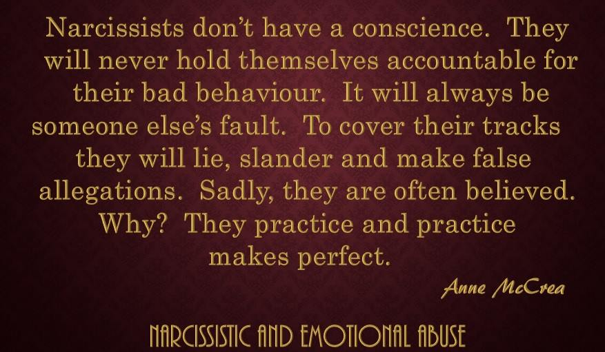 Narcissists don't have a conscience