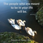 The people who are meant to be...