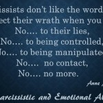 Narcissists don't like...