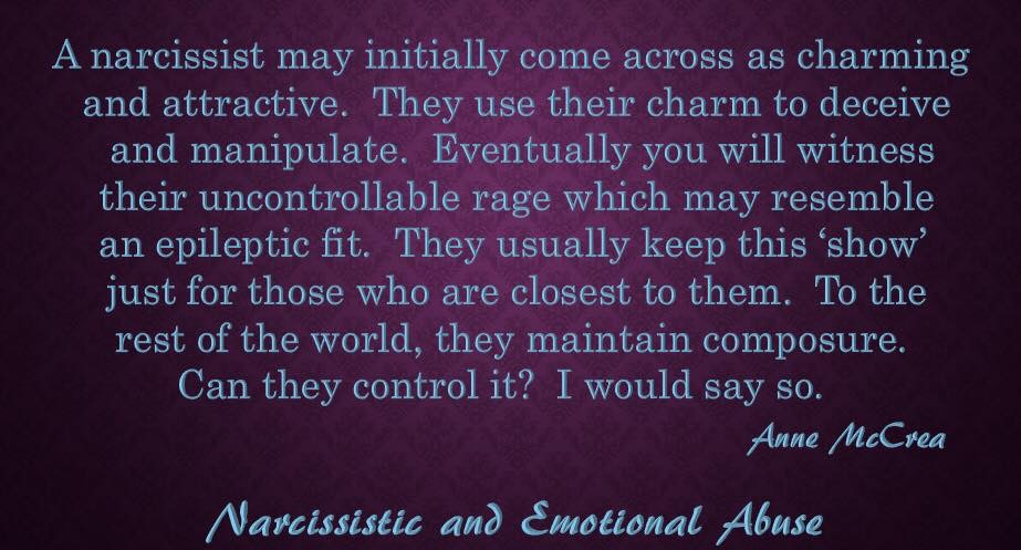 A narcissist may initially...