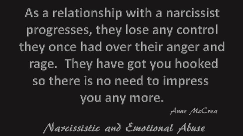 As a relationship with a narcissist...