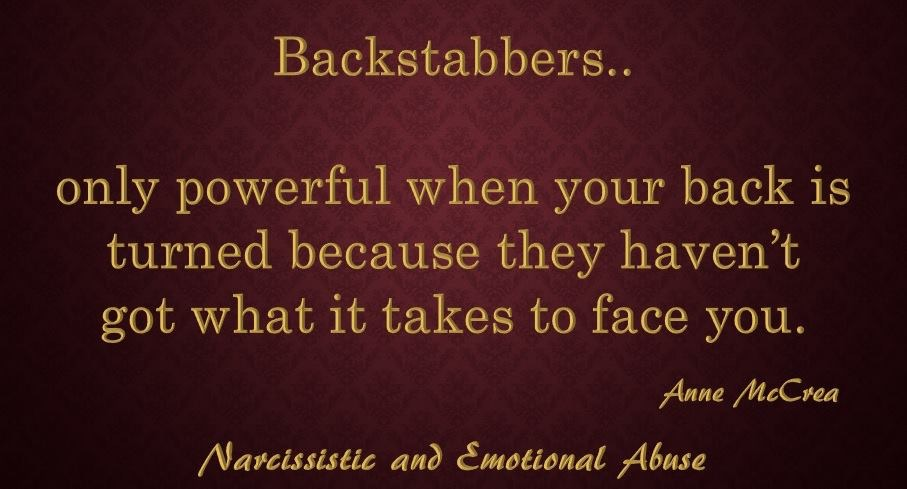 Backstabbers...