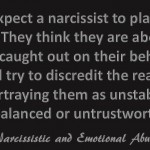 Don't expect a narcissist...