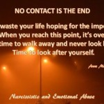 No contact is the end...