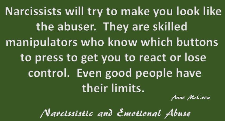 Narcissists will try...