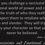 If you challenge a narcissist...