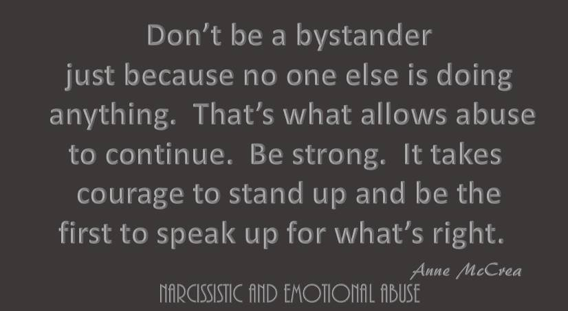 Don't be a bystander...