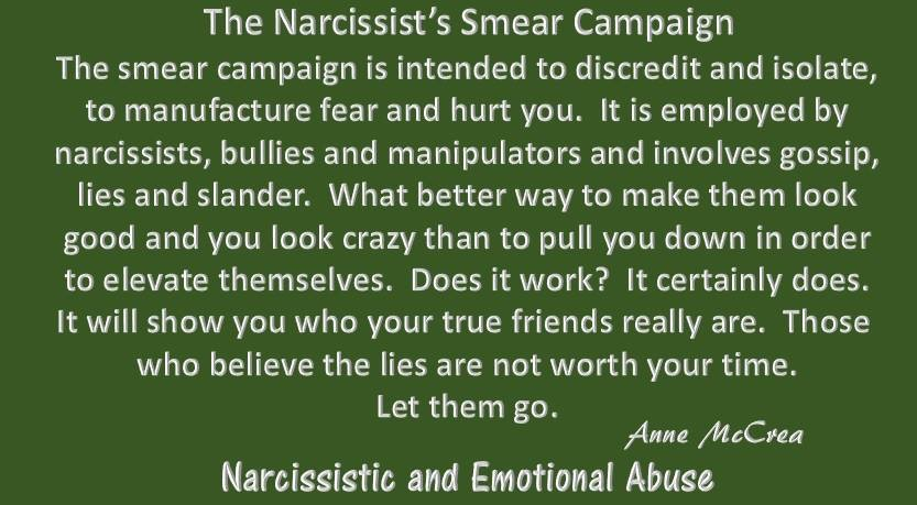 The Narcissist's Smear Campaign...