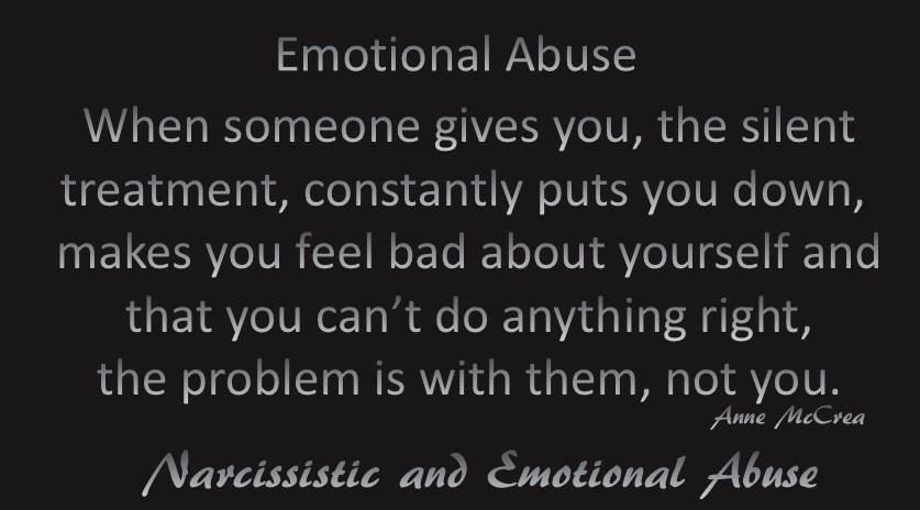 Emotional Abuse...