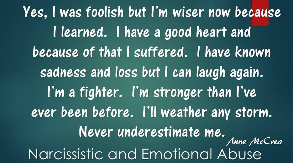 Yes I was foolish...