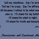 Call me rebellious...