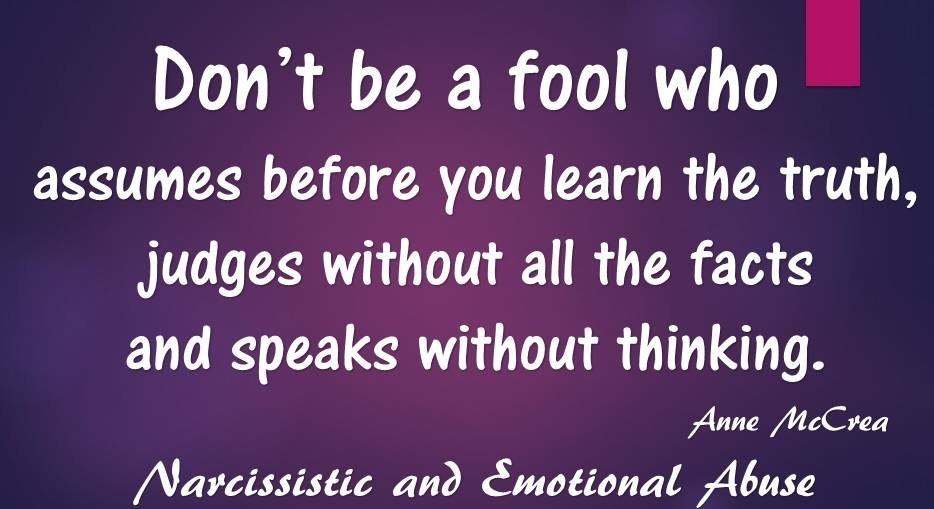Don't be a fool...