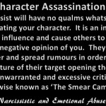 Character Assassination...