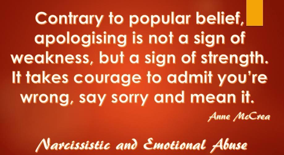 Apologising...