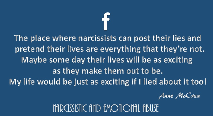 Narcissists And Facebook / Fakebook – Narcissistic and Emotional Abuse