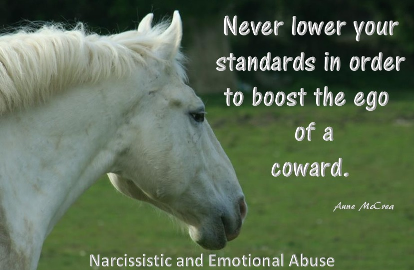 Never lower your standards...