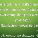 Narcissism knows no gender