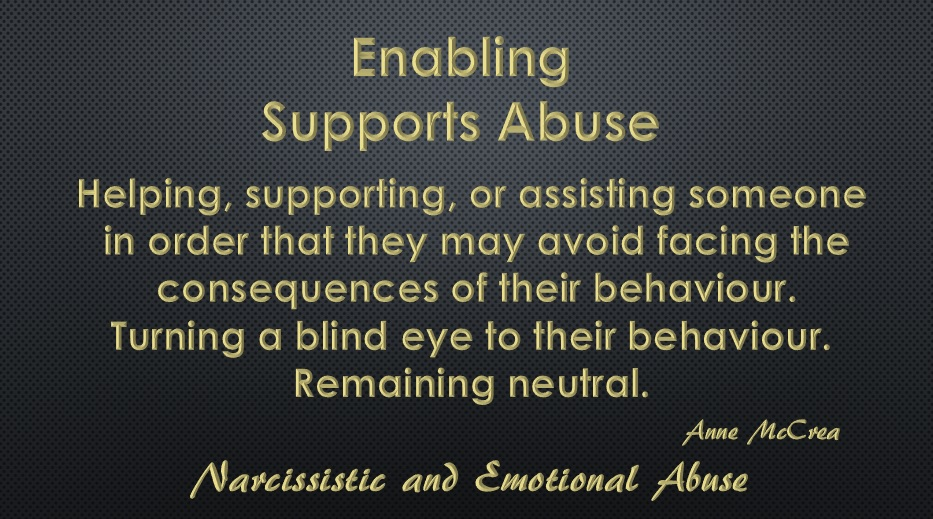 Enabling supports abuse