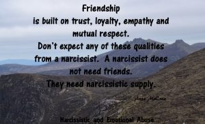 Need narcissistic supply.