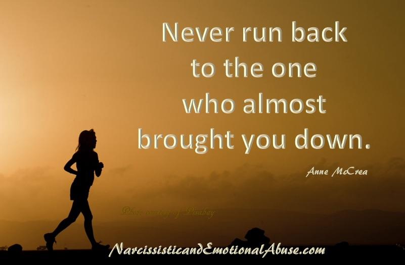 Never run back