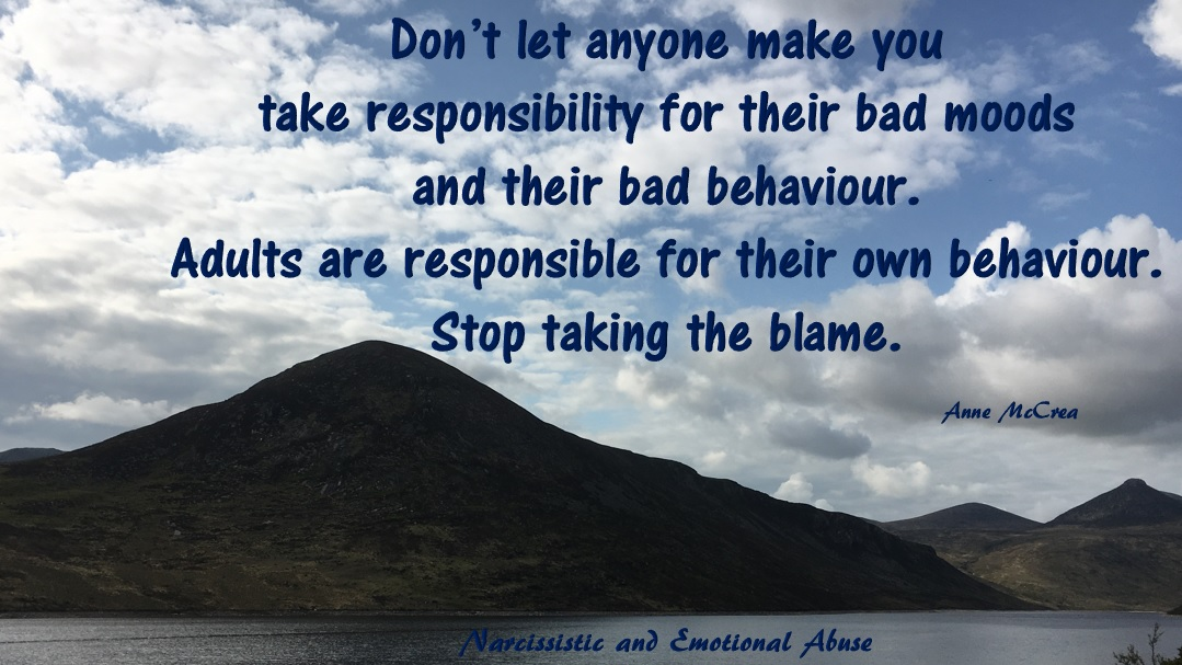 Stop taking the blame