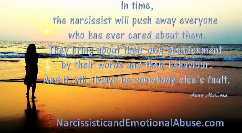 The narcissist pushes everyone