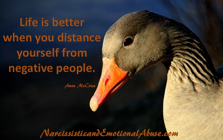 Distance from negative people