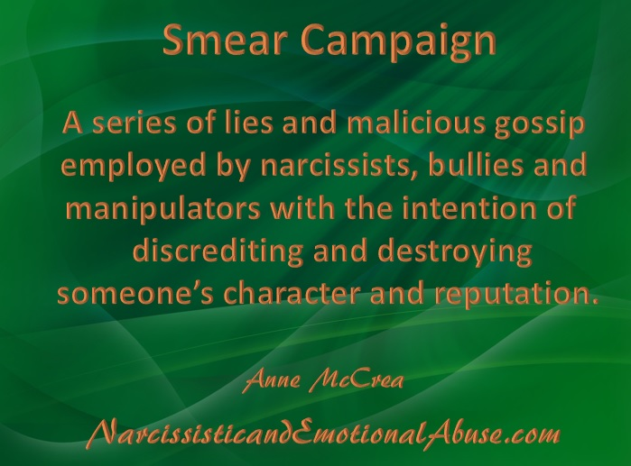 The Smear Campaign Narcissistic And Emotional Abuse