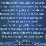 Abusers often side with abusers