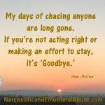 It's goodbye
