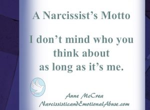 A Narcissist's Motto