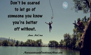 Don't be scared to let go