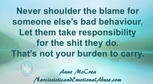 Never shoulder the blame