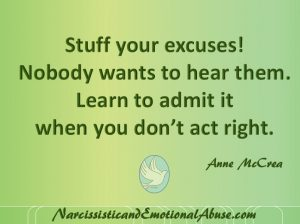 Stuff your excuses