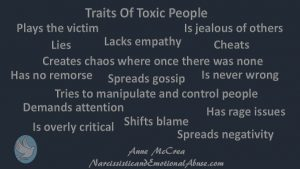 Traits of toxic people