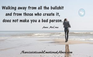 Walking away does not make you a bad person