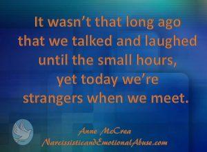 We're strangers
