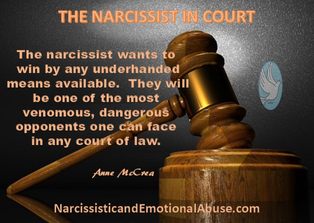 THE NARCISSIST IN COURT – Narcissistic and Emotional Abuse